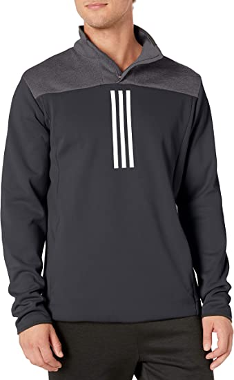 adidas men's team issue fleece quarter zip