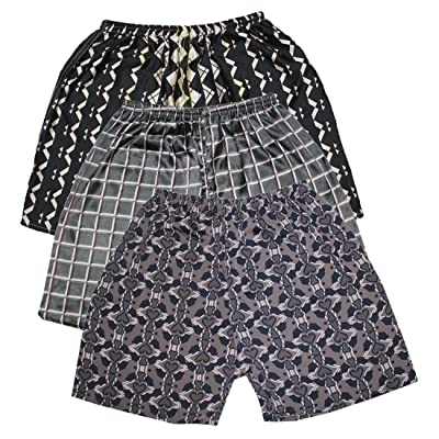 (Pack of 3) Mens Sleepwear - Silk Couture Boxer Shorts / Pajama Shorts