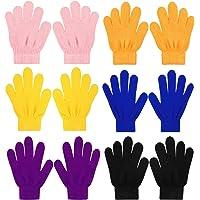 QKURT 6 pezzi Guanti magici elasticizzati per Bambini, Unisex Ragazzi Ragazze Knit Full Finger Gloves Guanti invernali…