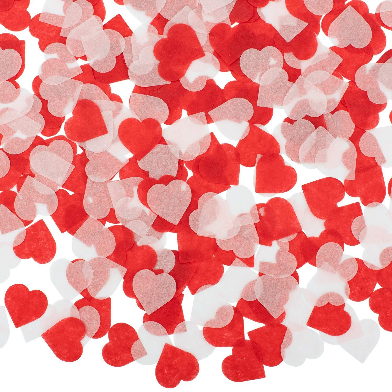Whaline 1 Inch Tissu en Papier Coeur avec Confettis Coeur Rose Mariage Vacances et Anniversaire 6000 Pi/èces Table de F/ête en Papier Cercle Confettis pour Ballon Saint-Valentin