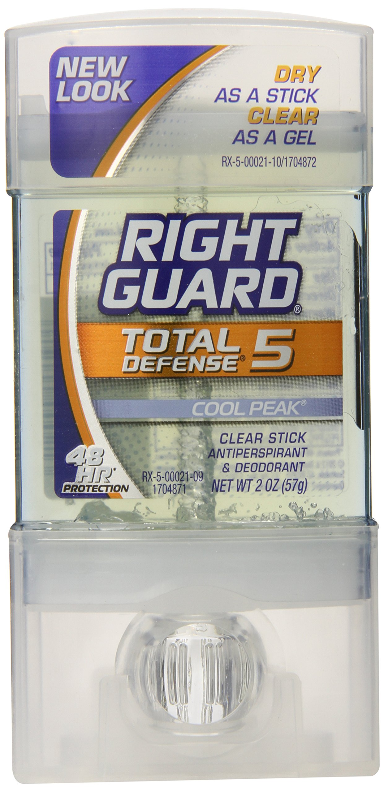 Right Guard Total Defense Clear Stick, Cool Peak, 2-Ounce Units (Pack of 6)