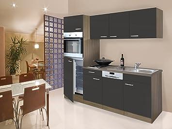 respekta Instalación de Single Cocina - Bloque de Cocina (205 cm Roble York Gris: Amazon.es: Juguetes y juegos
