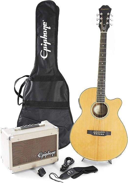 Epiphone ppgr-eep4nach1-eu pr-4e Pack de Guitarra Acústica 240 V: Amazon.es: Instrumentos musicales