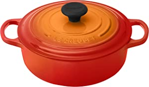 Le Creuset Signature Round Wide 3-1/2-Quart Dutch Oven, Flame