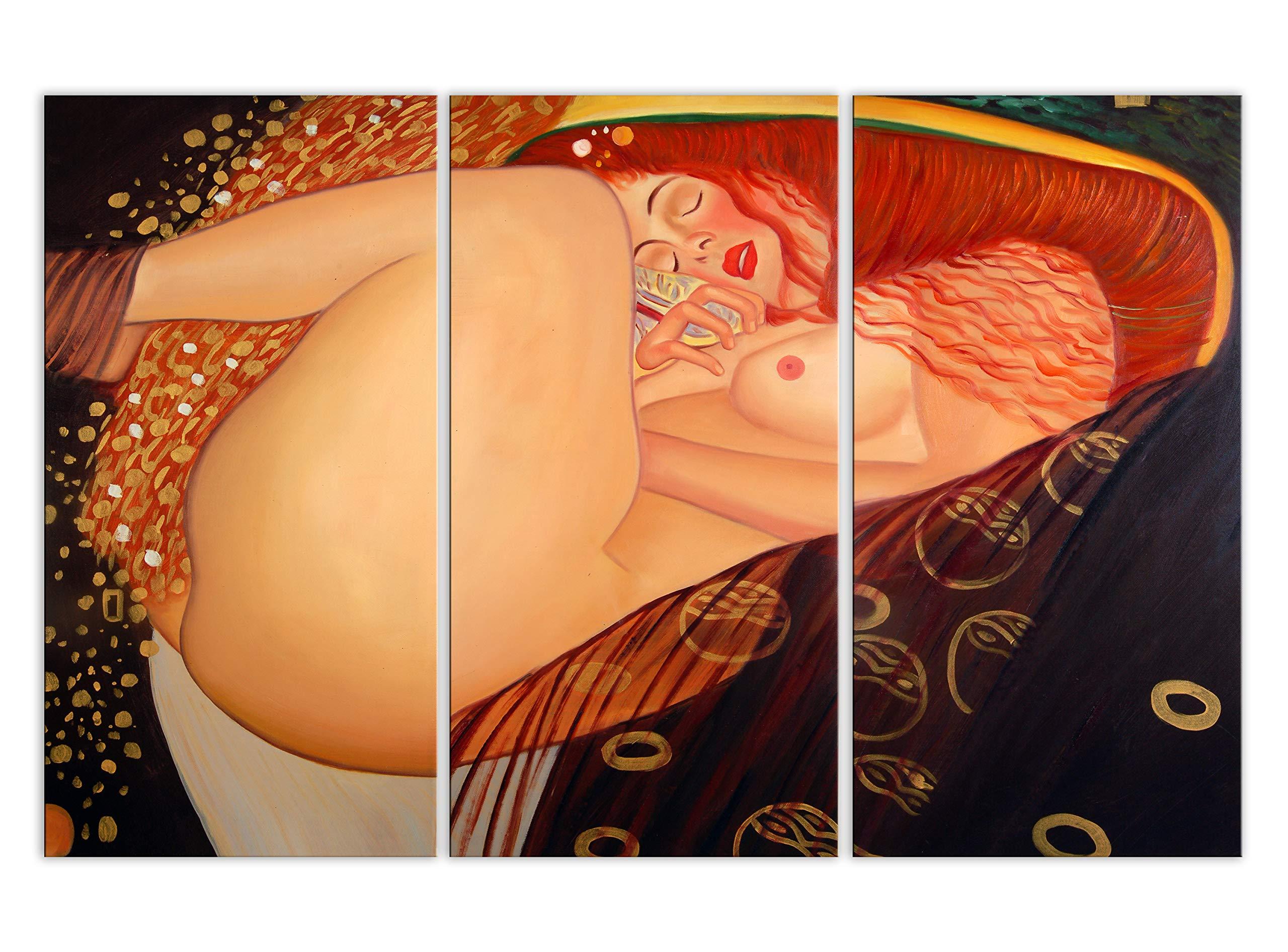 World Art TW60516 Oil Painting Danae 80x120x2 cm Size: 32 x 48 x 1 Inch