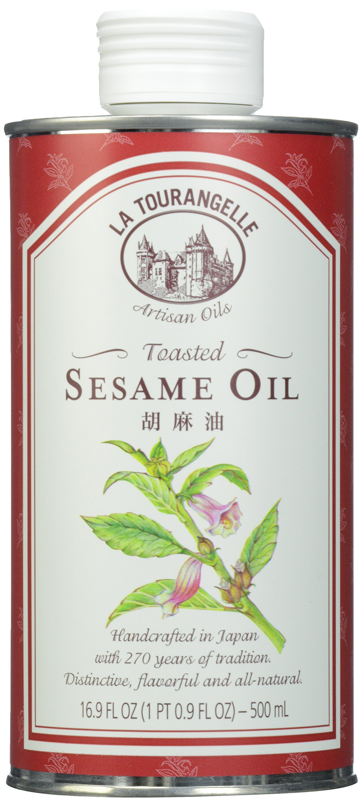 La Tourangelle Toasted Sesame Oil 16.9 Fl. Oz, All-Natural, Artisanal, Great for Stir Fry, Noodles, or as a Marinade