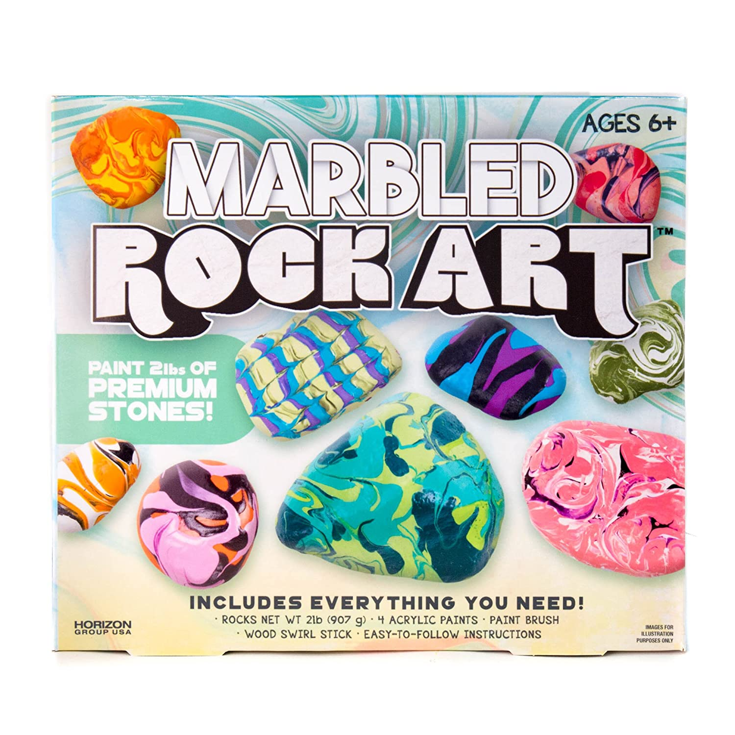 Amazon Marbled Paint Your Own Rock Art By Horizon Group Usa