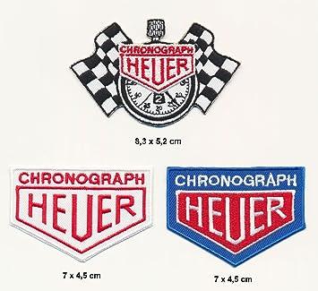 TAG Heuer parche para planchar parches 3 pieza Motor Sport Motor Sport Racing Team Turbo versandes: Amazon.es: Coche y moto
