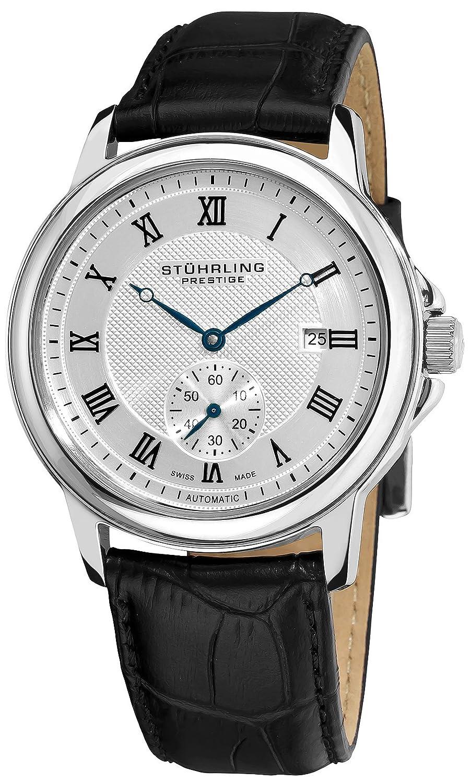 Stuhrling Prestige Herren 357.33152 Prestige Swiss Made Laurel Automatic Date Silver Tone Uhr