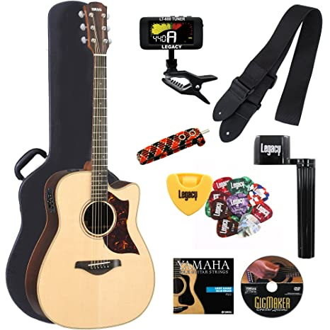 Yamaha a3rhc A-Series Folk Guitarra Cutaway Guitarra ...