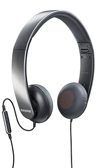 Shure SRH145m+ Portable Collapsible Headphones with Remote and Microphone On-Ear Headphones at amazon