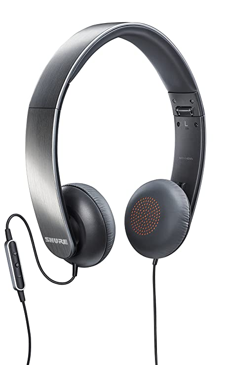 Shure SRH145m+ Portable Collapsible Headphones with Remote and Microphone  Compatible with All Apple iOS Devices 353442b872afd
