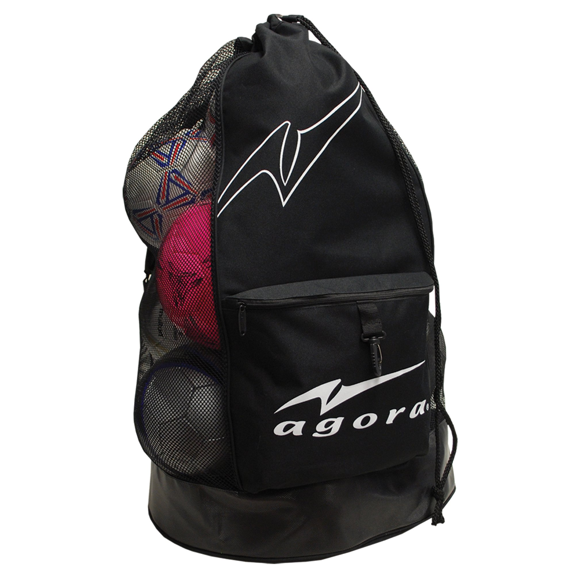 AGORA Heavy-Duty Soccer Ball Carrier Bag (12-15 Balls), Black by AGORA (Image #1)