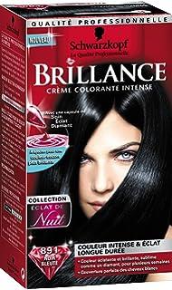 schwarzkopf brillance coloration permanente eclat de nuit noir bleut 891 - Coloration Noir Bleut