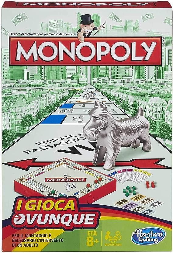 Hasbro Gaming Monopoly Juego de Viaje, versión Italiana: Amazon.es: Juguetes y juegos