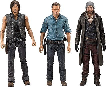 McFarlane Toy Rick Daryl /& Jesus Figurines 3-Pack Allies The Walking Dead