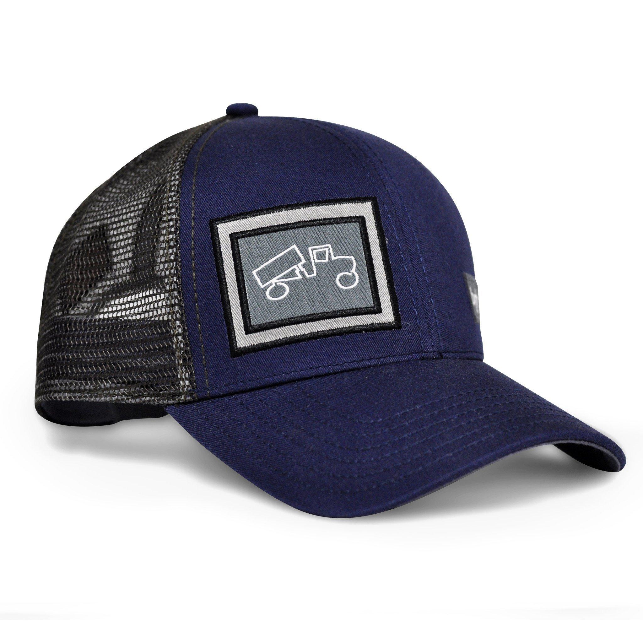 bigtruck Classic Trucker Hat, Navy Grey, Adult