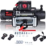 TYT New 12000 lb. Advanced Electric Winch T1 Series, 12V Waterproof IP67 Recovery Winch with Hawse Fairlead, Steel Cable Truc
