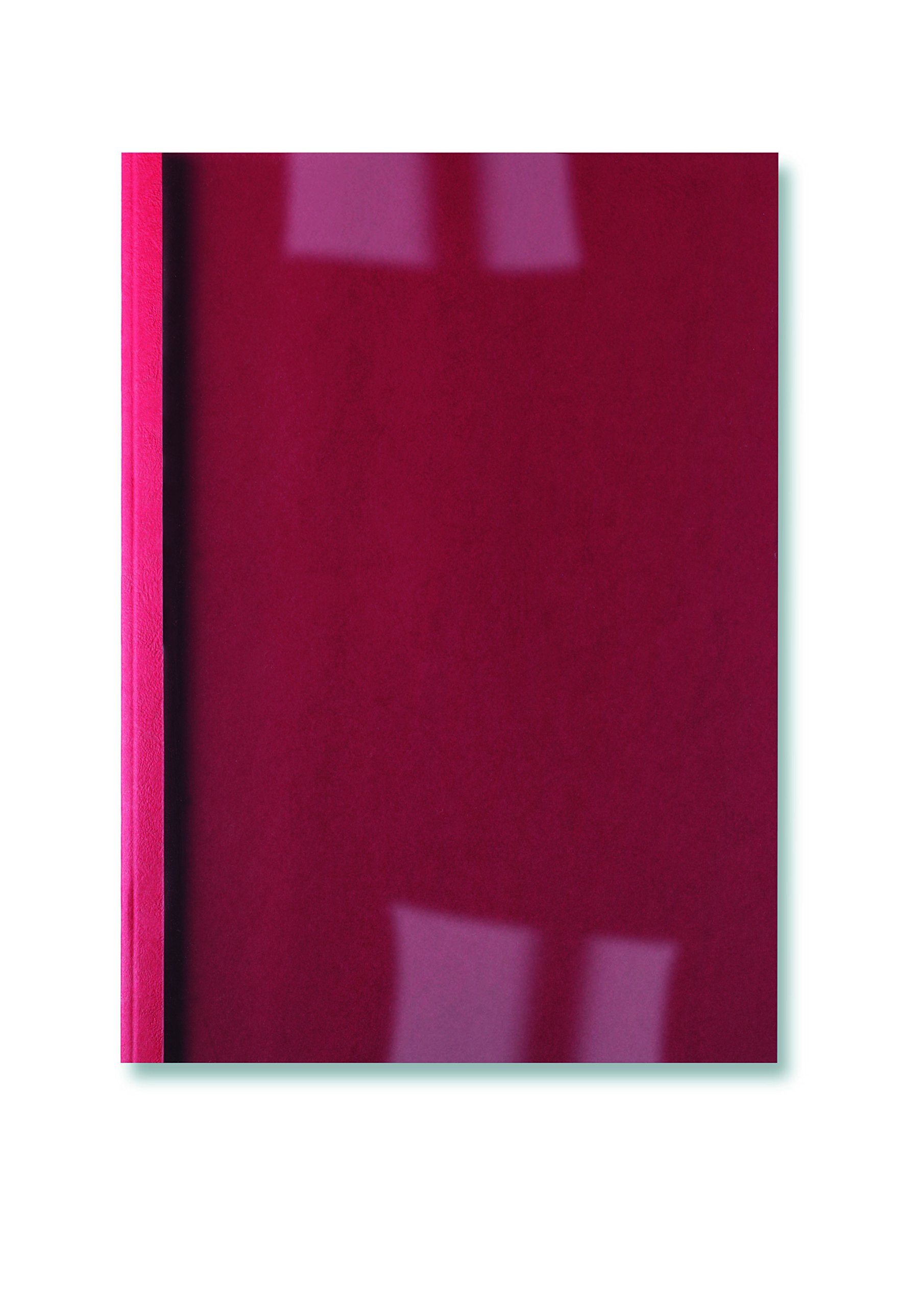 GBC Thermal Binding Covers 4mm Front PVC Clear Back Leathergrain A4 Red Ref IB451225 [Pack of 100]
