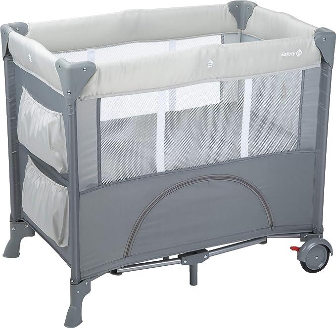 Safety 1st Mini Dreams Lit de Voyage Bébé, De la naissance à 9 mois, Warm Grey