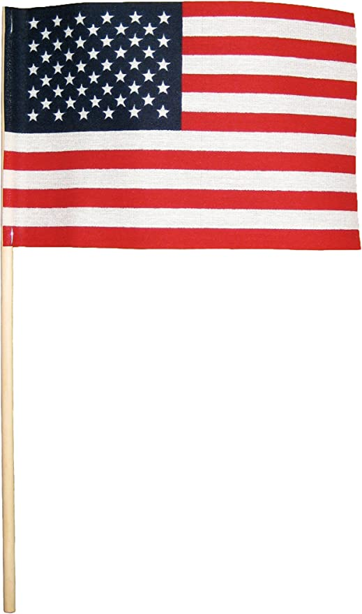 50 American Flags On Stick-Small 4x6 USA Flags.  ONLY 1 SET OF 50 LEFT HURRY: