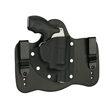 foxx holsters smith wesson j frame in the waist band hybrid holster black