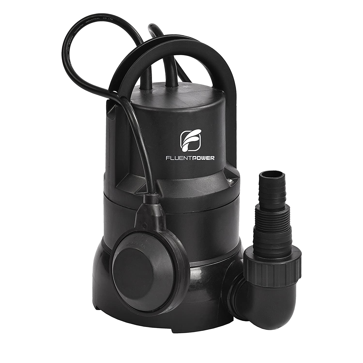 FLUENTEC Electric Submersible Pump with Float Switch and Max Flow7500L/H Dirty/Clean Submersible Water Pump for Water Transfer, Puddle, and Drainage Pool Ningbo Fluent Tools Co. LTD