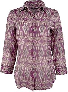 c506a91a Lauren Ralph Lauren Women's Plus Size Ikat Printed Button Down Blouse Top
