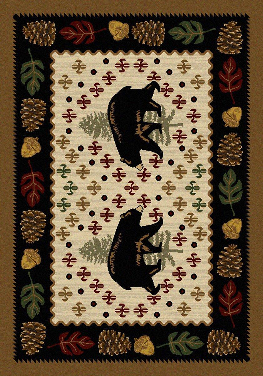 Bear Patchwork Natural Rug - 3 x 4