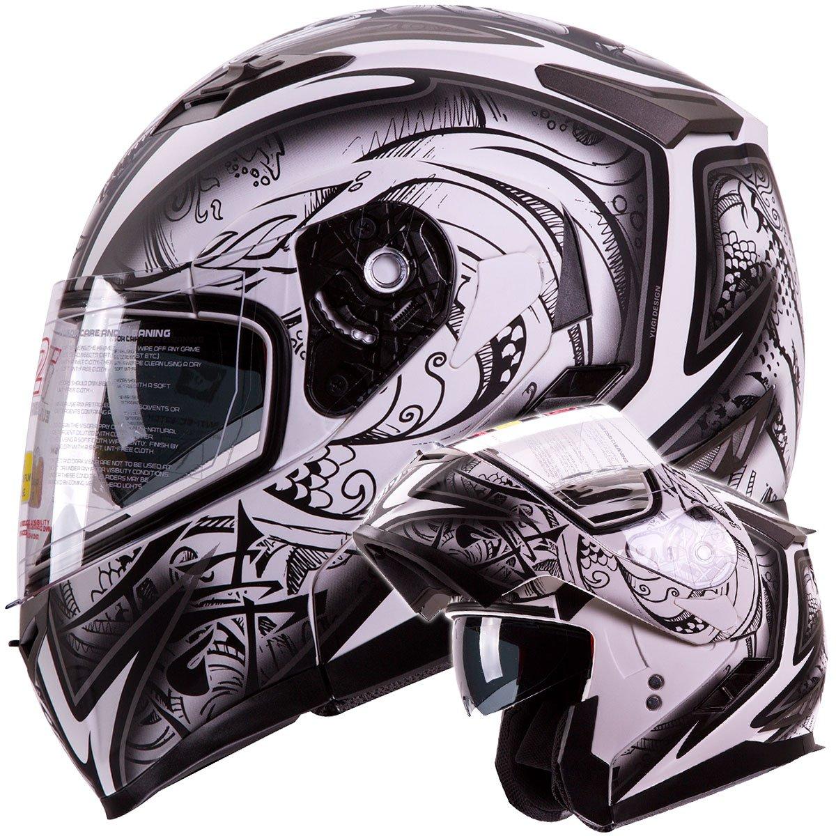 Amazoncom IV DEMON SAMURAI Dual Visor Modular FlipUp - Motorcycle helmet decals graphicsmotorcycle helmet graphics the easy helmet upgrade