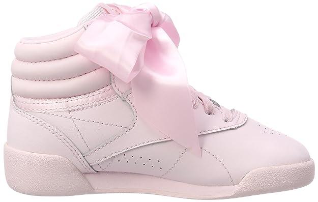 Reebok Mädchen Freestyle Hi Satin Bow Gymnastikschuhe, Pink (Porcelain Pinkskull Grey), 29 EU