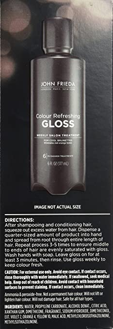 amazoncom john frieda precision colour refreshing gloss for cool brunettes 6 fluid ounce hair highlighting products beauty - Color Refreshing Gloss