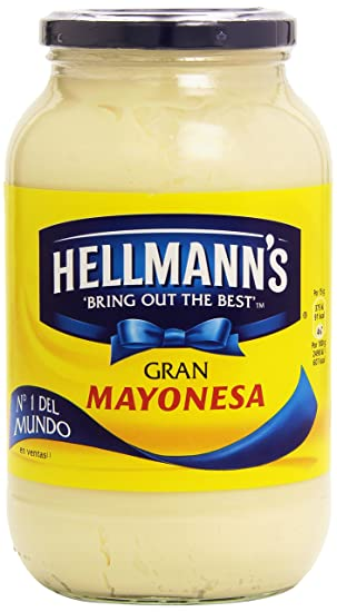 HellmanS Mayonesa - 2 Paquetes de 825 ml- Total: 1650 gr