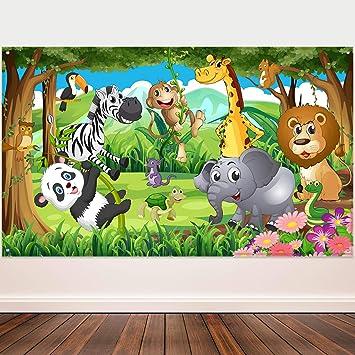Amazon.com: Blulu Safari Animals Decoraciones, Extra grande ...