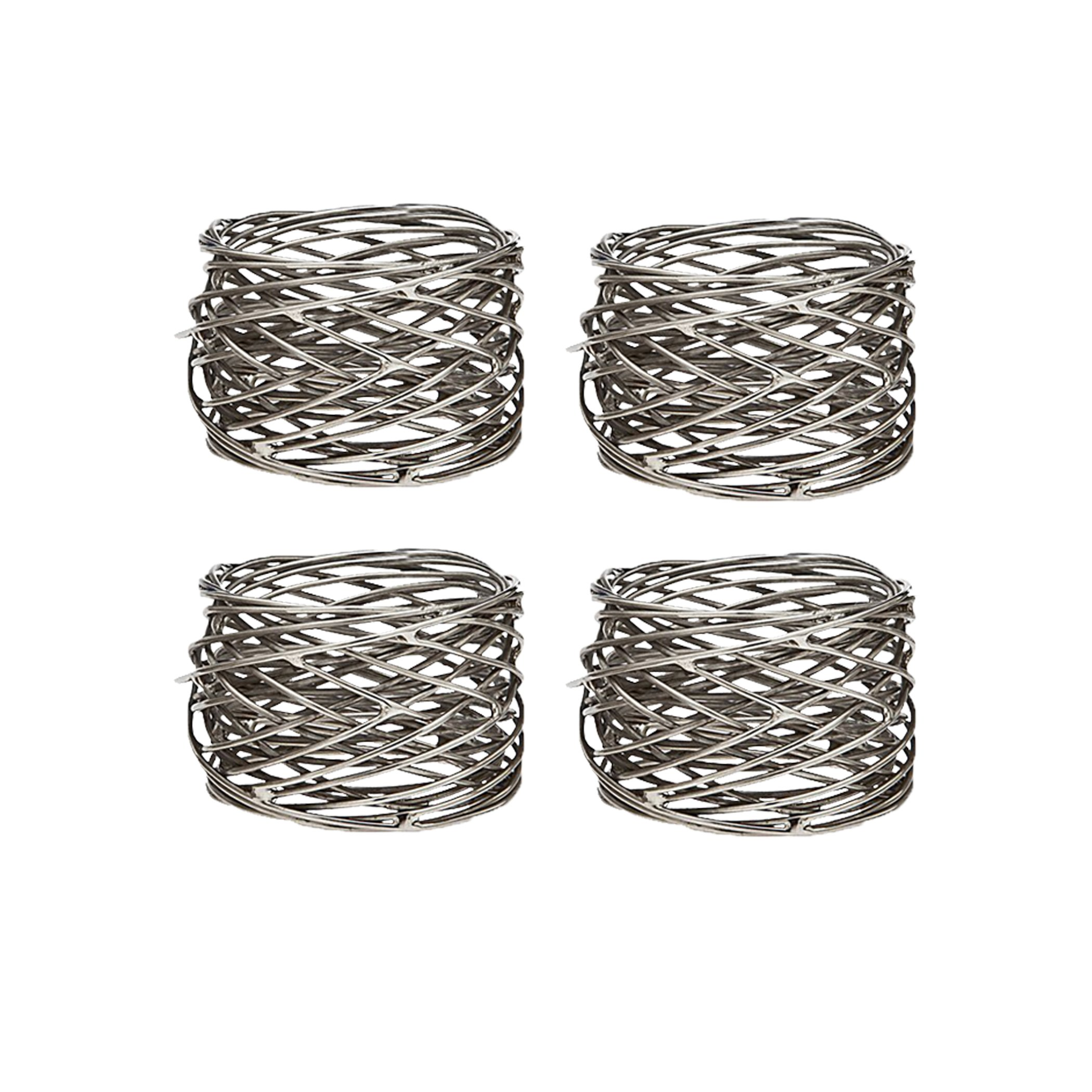 Klikel Mesh Napkin Ring Stainless Steel Set Of 4 by Klikel