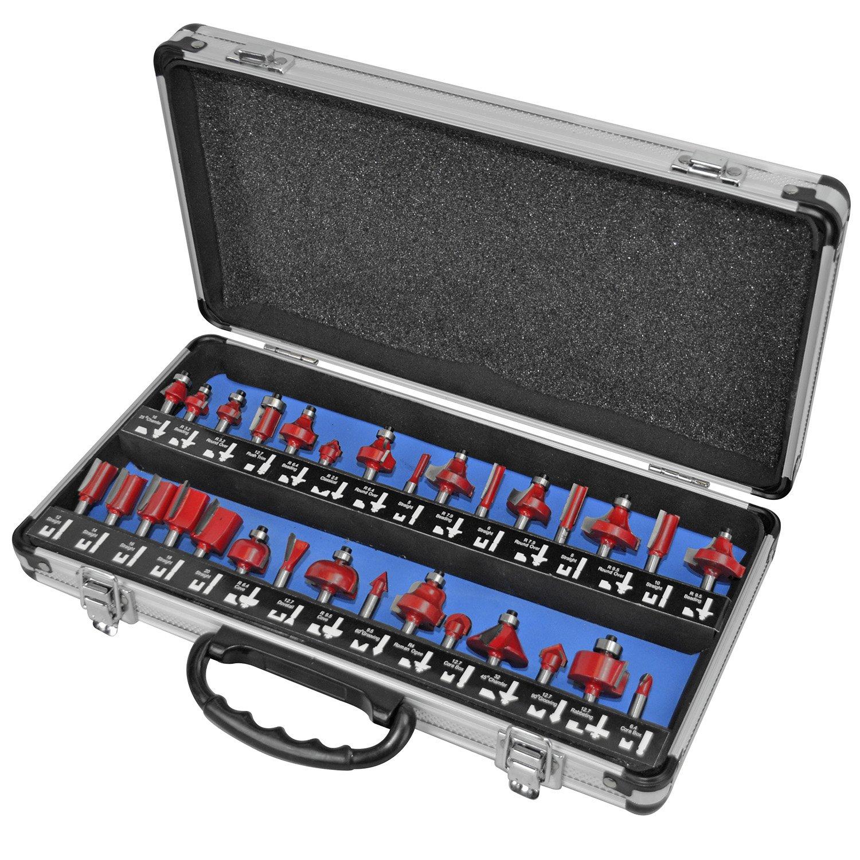 Faithfull RBS30 - Set de fresas de carburo de tungsteno (30 piezas, en maletí n) en maletín) FAIRBS30