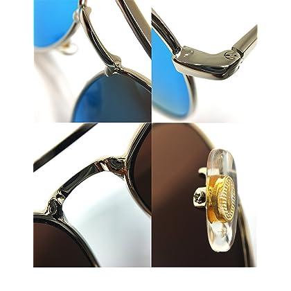3c2a65dc2f ... O2 Eyewear 97025 Premium Oversized Aviator Flat Mirrored Sunglass  Womens Mens (METAL