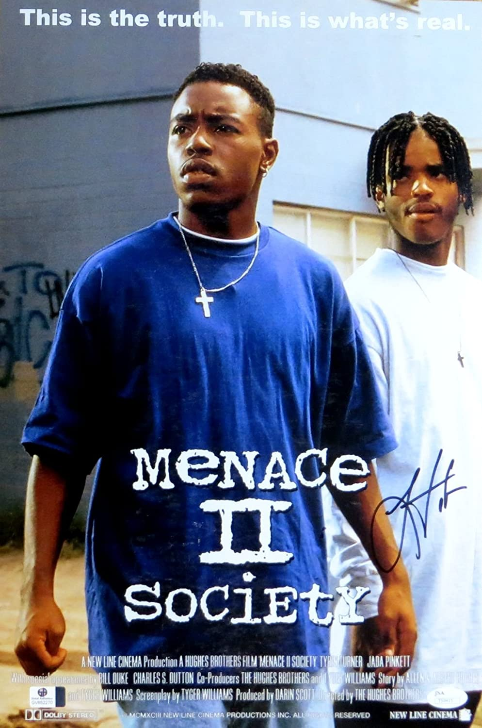 Larenz Tate Signed Autographed 12X18 Photo Menace II Society Poster JSA T59415 At Amazons Entertainment Collectibles Store