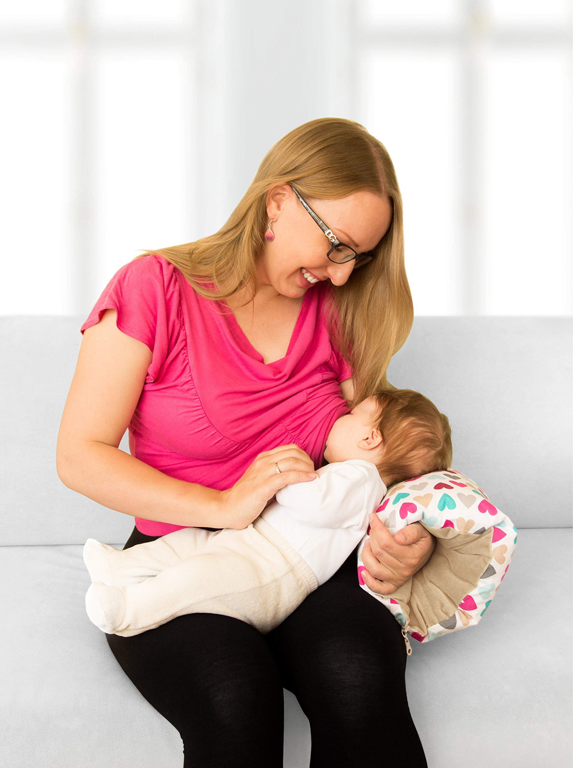 Benjamin Button - Arm Nursing, Breastfeeding Pillow and Positioner   Organic, Natural, Ergonomic Back Support Shape by Benjamin Button (Image #7)