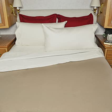 Beautiful 48x75 Camper Sheet Set 100% Cotton 3/4 Full Bunk Size Color:Ivory
