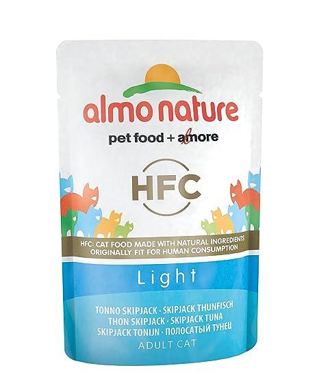 Almo nature HFC Light Cat - Lote de 24 gatos con gato saltador, 55 g