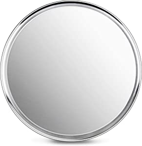 New Star Foodservice 50929 Pizza Pan/Tray, Wide Rim,Aluminum, 20 Inch, Pack of 6