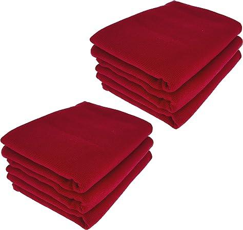 Daloual 6 x – Trapo/Paño de Cocina y Gamuza de limpieza/100% algodón de Burdeos Rojo Vino Rojo: Amazon.es: Hogar