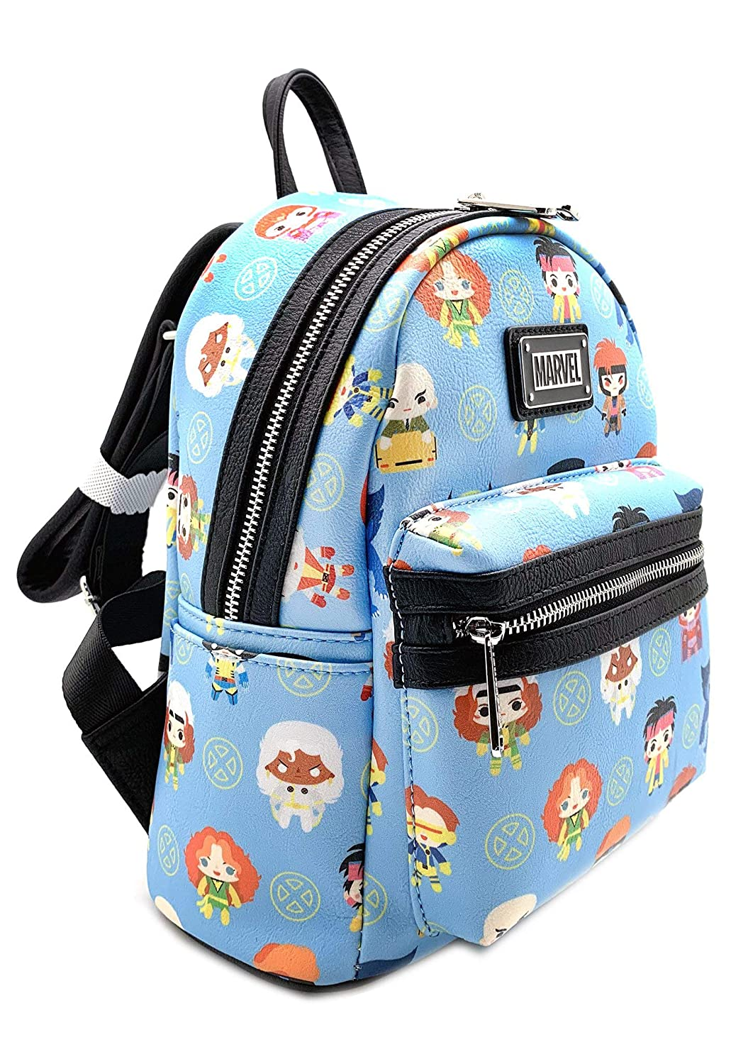 Loungefly x Marvel X-Men Chibi Character All-Over Print Mini Backpack