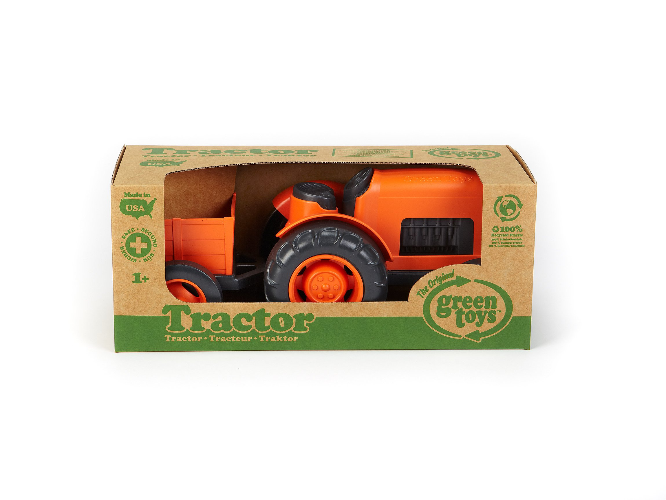 Green Toys Tractor Vehicle, Orange by Green Toys (Image #2)