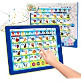 BEAURE Learning Tablet with ABC/Words/Numbers/Color/Games/Music, Interactive Educational Electronic Learning Pad Toys, Presch