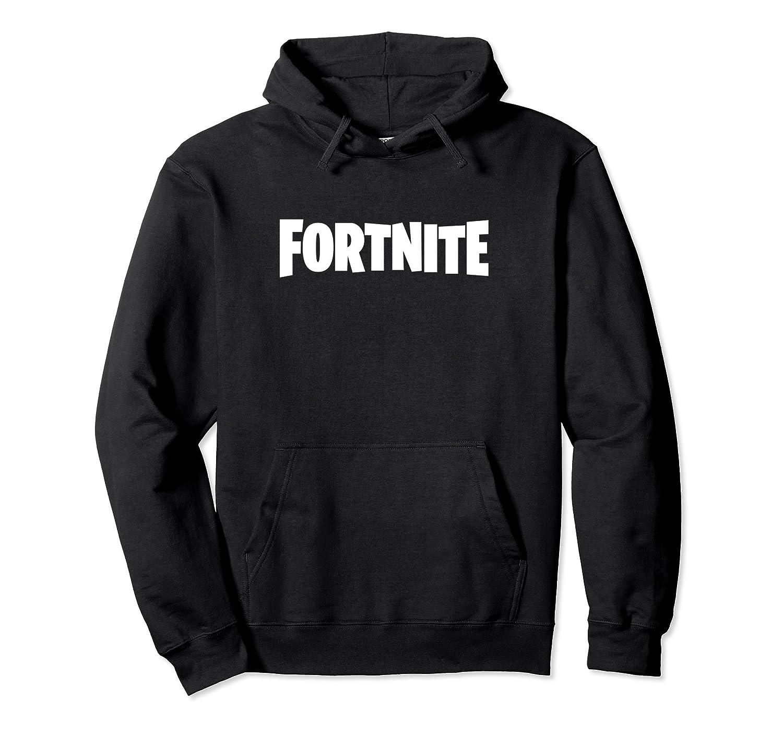 144d6c66999 Amazon.com  Fortnite White Logo Hoodie  Clothing