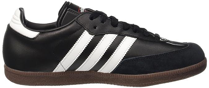 Adidas samba vero cuoio per scarpe originali degli uomini neri
