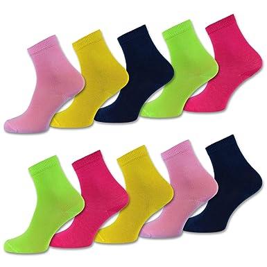 c5761944cc sockenkauf24 10 Paar Kinder Socken Jungen & Mädchen - versch. Farben und  Größen - Baumwolle