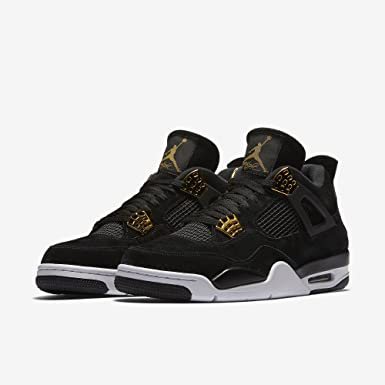 9bd92410511f89 Jordan Nike Air 4 Retro Royalty Black Trainers Size 6.5 UK  Amazon ...